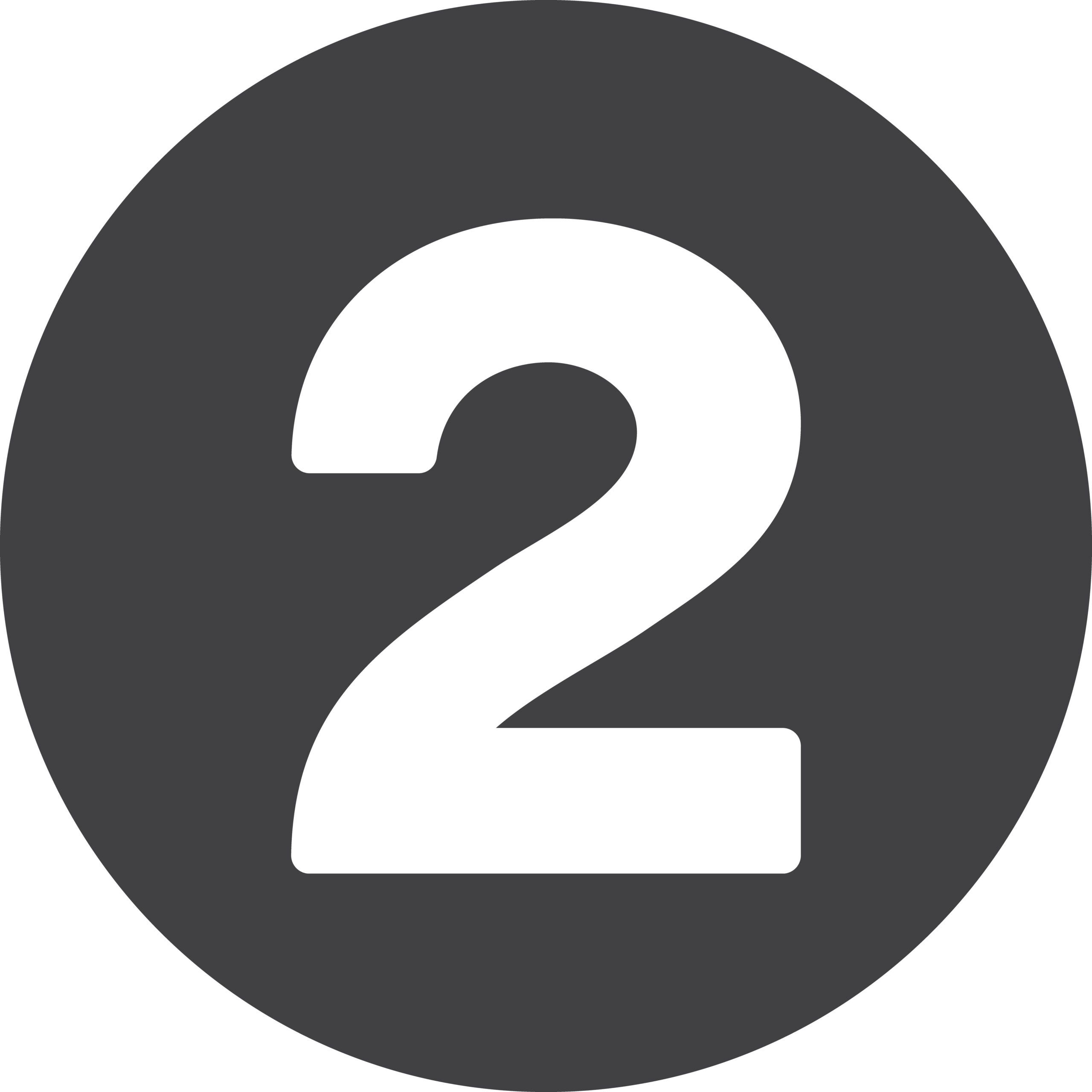 Number flat icon, circular sign